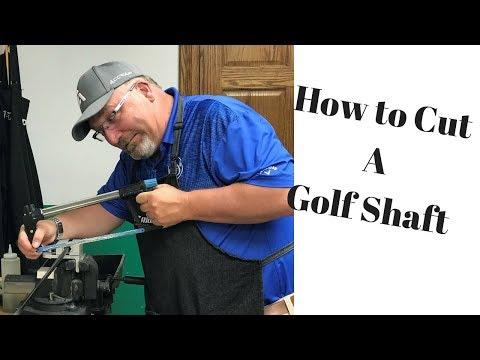 Golf Club Repair - How To cut a Golf Shaft