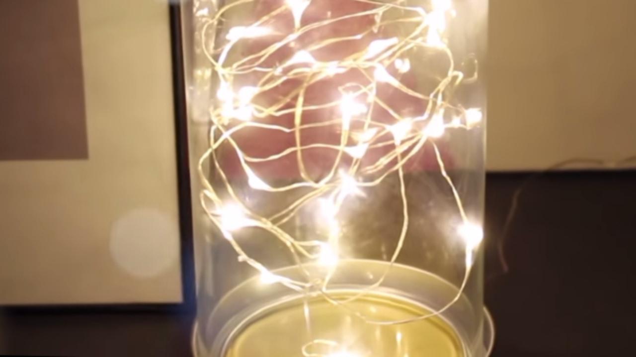 Diy fairy lamp led string lights youtube diy fairy lamp led string lights reviewsmspy