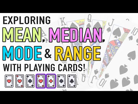 Mean, Median, and Mode Activity with Playing Cards! - YouTube