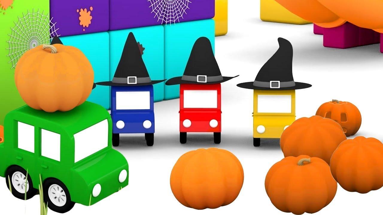 pr parations pour halloween dessin anim de 4 voitures color es youtube. Black Bedroom Furniture Sets. Home Design Ideas