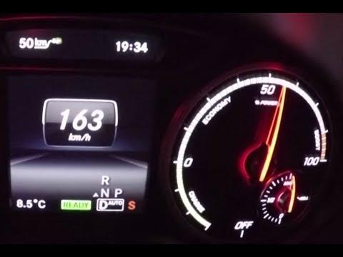 Mercedes-Benz B 250 e (B200 Electric Drive) - Tachovideo Acceleration  0-100 km/h   0-62 mph