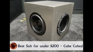 Best Sub under $200? Passive Radiator Sub Build - Excursion Test - Free Plans