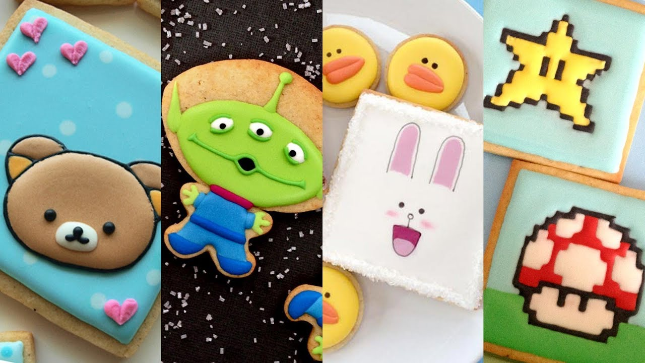 CUTE CHARACTER COOKIES! Cookie Decorating Video Compilation by SweetAmbs