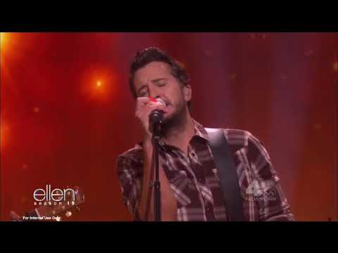 "Luke Bryan performs ""Most People Are Good"" are on Ellen"