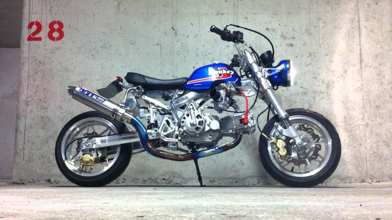 Honda Z50J1 Monkey SEV MARCHAL / 138cc 4V SOHC Takegawa - YouTube