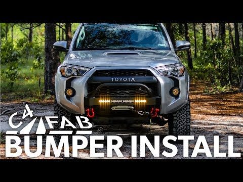 Ep36 - C4 BUMPER INSTALL on 4Runner, Testing, Lights, Winch and GETTING STUCK!!