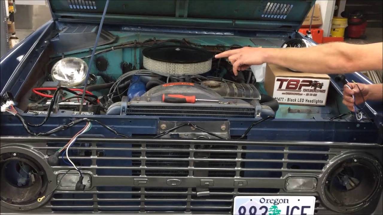 small resolution of h4 halogen headlight conversion w heavy duty wiring harness kit toms bronco parts