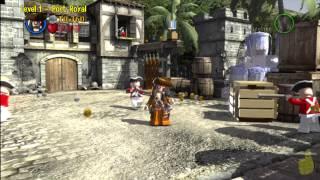 Lego Pirates of the Caribbean: Level 1 Port Royal - Story Walkthrough- HTG