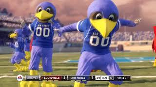 NCAA Football 13 Mascot Mashup Gameplay Air Force Falcons vs. Louisville Cardinals