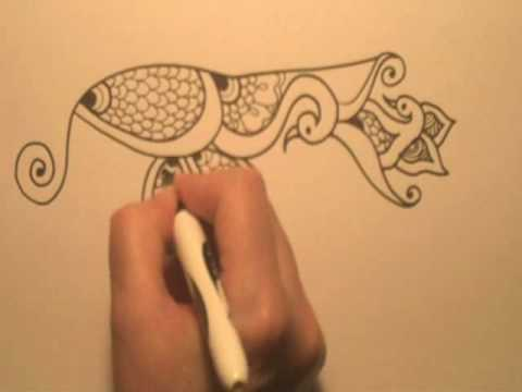 Swan Song, a Henna tattoo Sketch