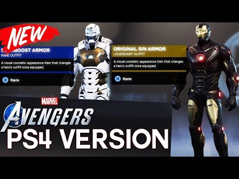 New Avengers PS4 Gameplay Breakdown   Iron Man Has 24 Suits, Emotes, Custom Suits & More! (2019)
