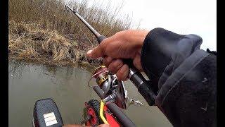 КРУПНЫЙ КАРАСЬ И СУДАК НА КАЖДОМ ЗАБРОСЕ!!Рыбалка,спиннинг на малых реках,Джиг весной.