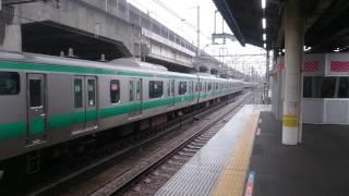 埼京線E233系 赤羽駅入線