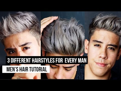 MEN\'S HAIRSTYLES: HOW TO STYLE THE MAN FRINGE 3 DIFFERENT WAYS (TUTORIAL)