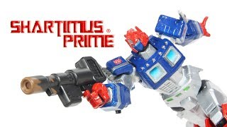 Transformers Revoltech ShartimusPrime Custom by Nicholas Jordan Import Action Figure Toy Review