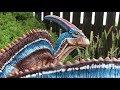 """Parasaurolophus"" | Clay Dinosaur Sculpture"
