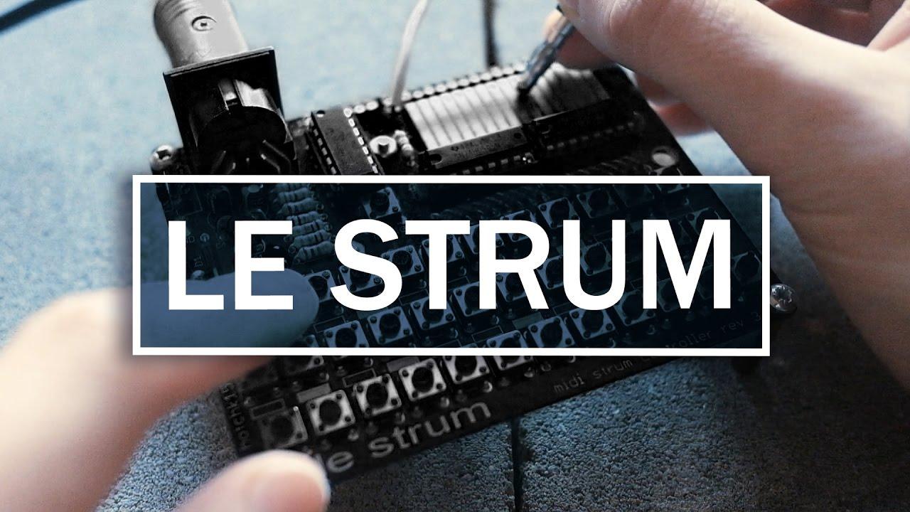 le strum chord strumming midi controller demo youtube. Black Bedroom Furniture Sets. Home Design Ideas