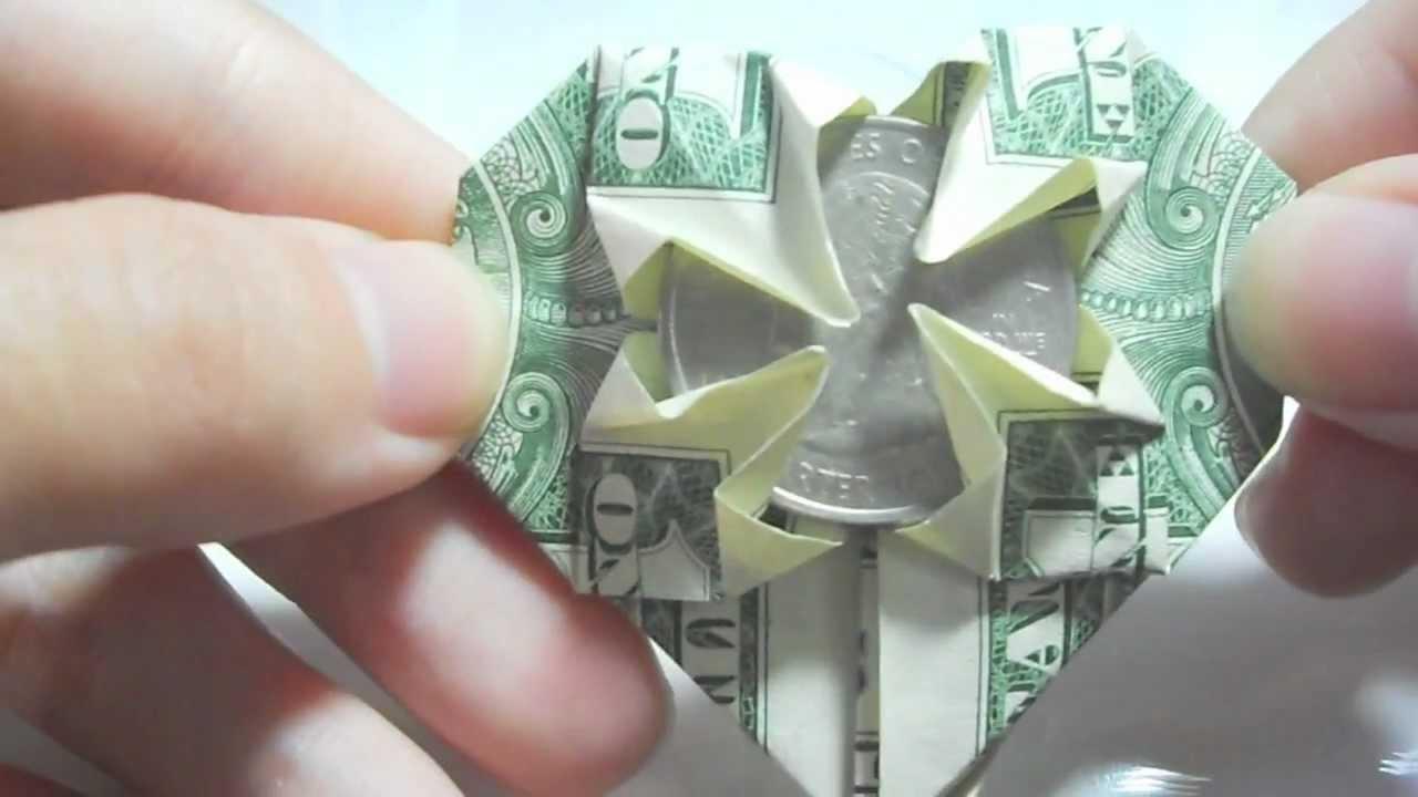origami i love you dollar