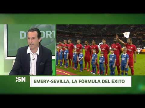 Unai Emery, entrenador del Sevilla FC en Andalucía al Día Deportes