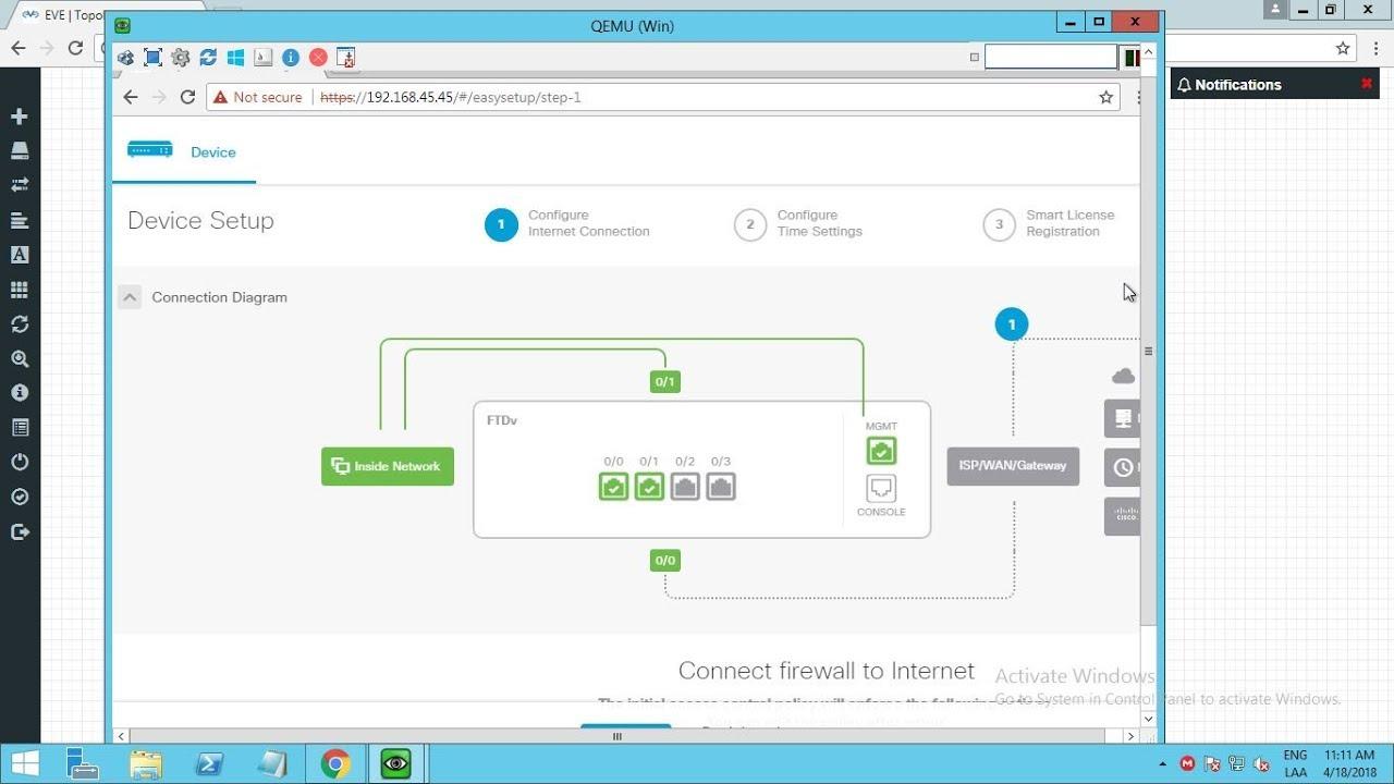 Cisco Firepower Threat Defense 6 2 3 with FDM on Cloudmylab Initial Setup  (spanish)