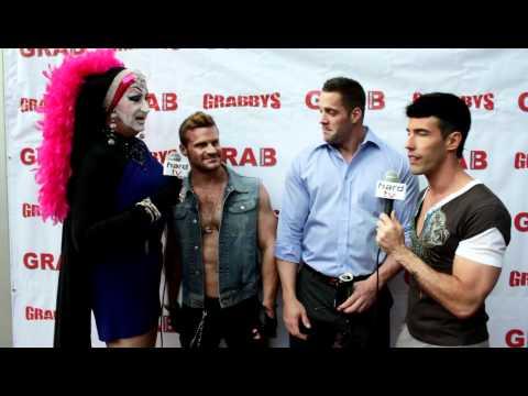 Gay porn star Erik Rhodes at 2012 Grabby Awards