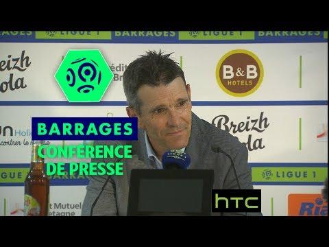 Conférence de presse FC Lorient – ESTAC Troyes (0-0) / Barrage retour Ligue 1 (saison 2016-17)