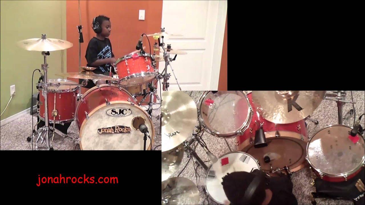 Godsmack - I Stand Alone, 8 year Old Drummer, Jonah Rocks