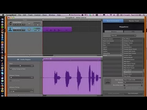 How to Delete a Section of a Track in GarageBand : GarageBand Tips