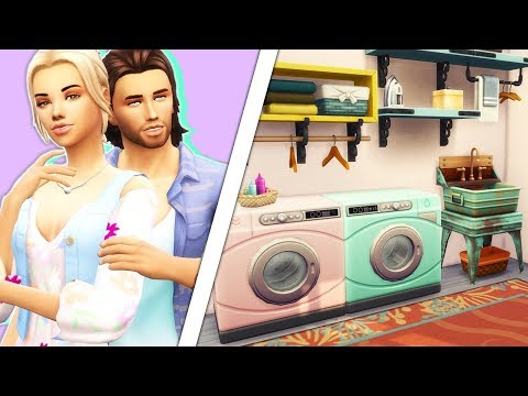 LAUNDRY DAY STUFF👗👕👖 // CAS + BUILD & BUY OVERVIEW | The Sims 4