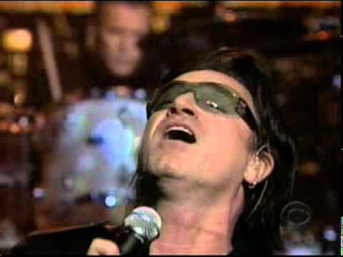 U2 // David Letterman // 29.10.2001