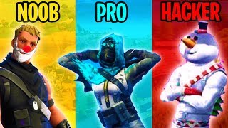 NOOB vs PRO vs HACKER - Fortnite Battle Royale