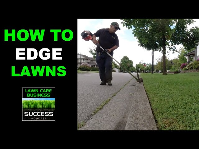 How to maintain lawn edges with a string trimmer