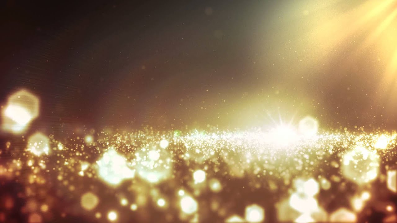 Footage Background Gold Bokeh and Lights  YouTube