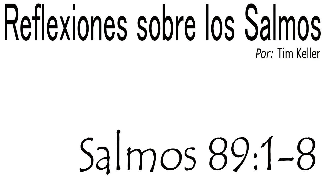 Reflexión - Salmos 89:1-8