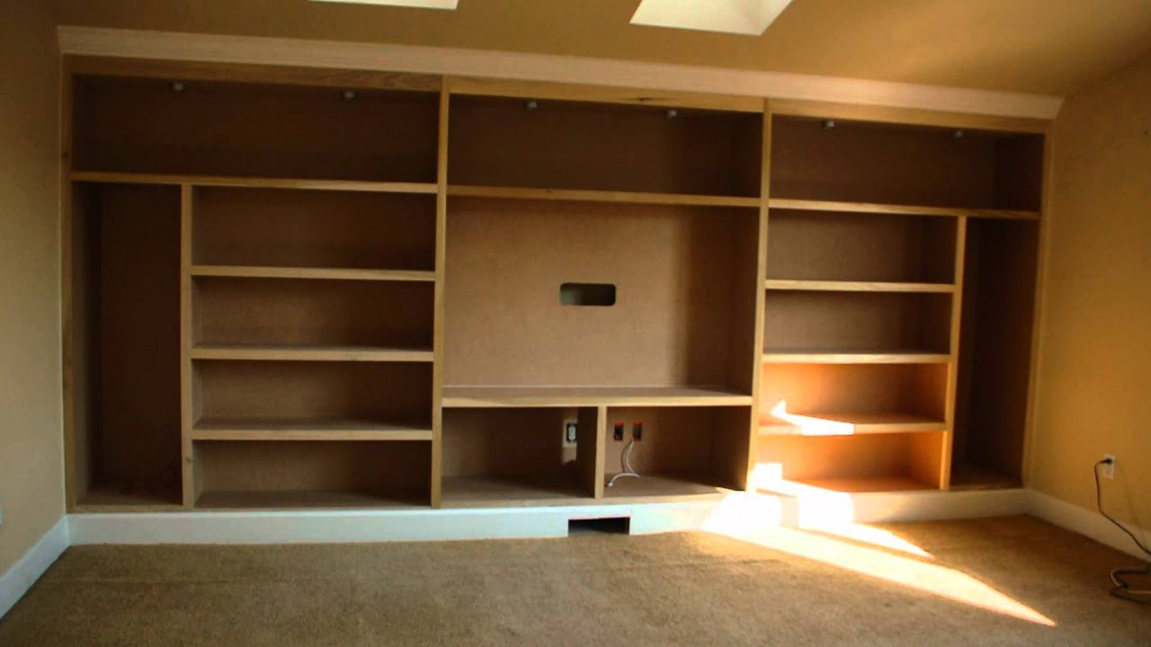 drewtown timelapse built in entertainment center youtube - Built In Entertainment Center Design Ideas
