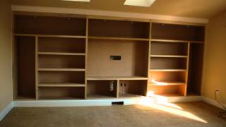 Drewtown Timelapse Built-in Entertainment Center