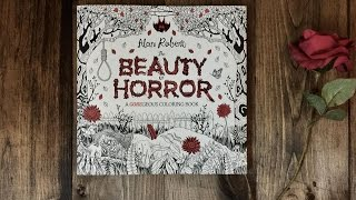 Coloring Book Flipthrough: The Beauty of Horror