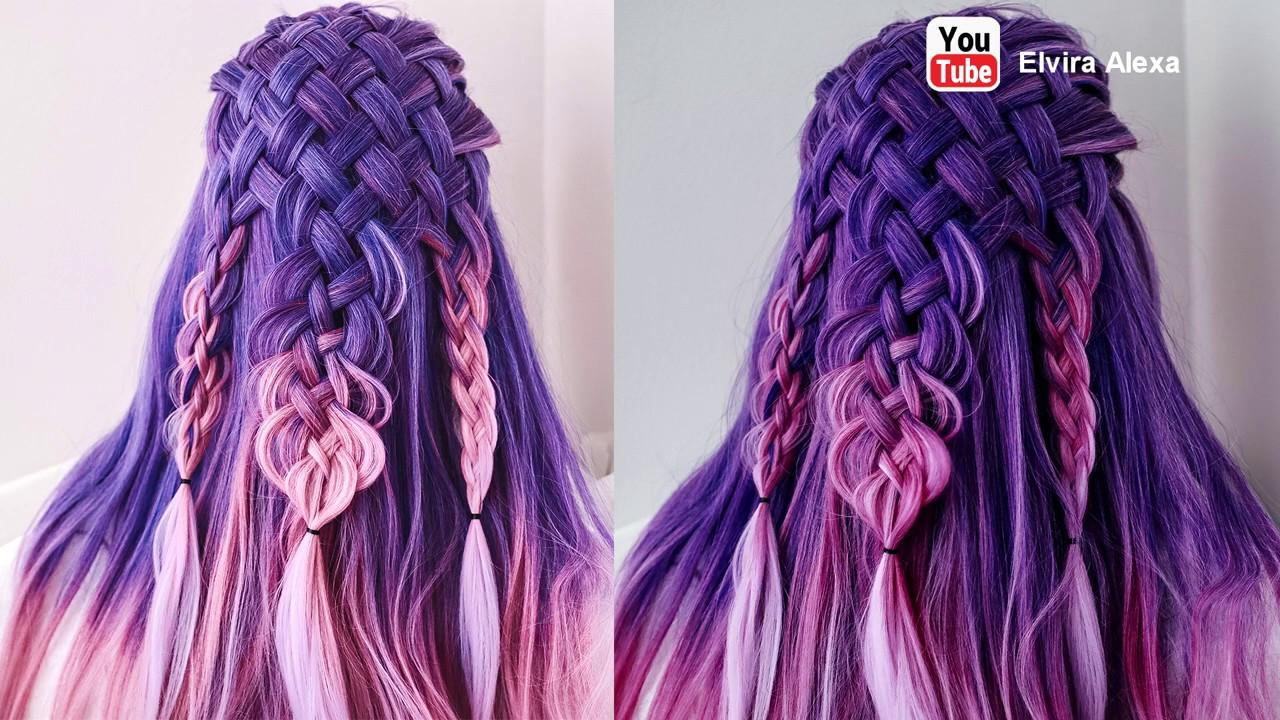 Самый простой способ заплести косу из 11 прядей Причёска из кос