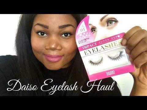 5f6a0ad8bf8 Daiso Eyelash Review - YouTube
