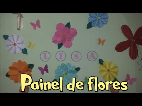 Painel de flores 4 tipos diferentes fa a voc mesmo - Tipos de plantas ...
