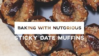 Sticky Date & Pecan Muffins | Baking With Nutorious | Ep4