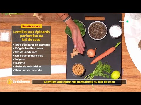 recette-:-lentilles-aux-épinards-parfumées-au-lait-de-coco-avec-750-grammes