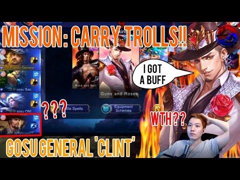 [Marksman Clint] Mission : Carry Trolls by Clint. Mobile Legends : Bang Bang Gosu General TV thumbnail
