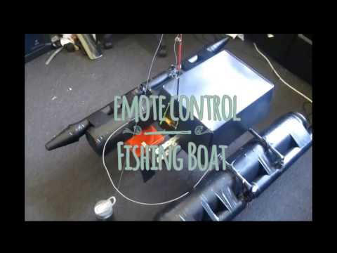 Remote Control fishing boat, line reeler and line cutter