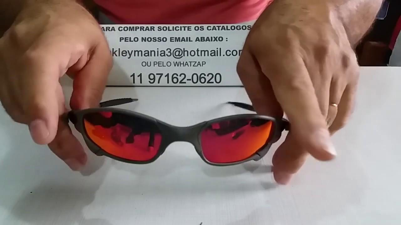 63cafd339 Oculos Oakley Juliet Xmetal lente Dark ruby Polarizada - YouTube