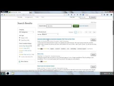How to apply for a job in oDesk - Step 1