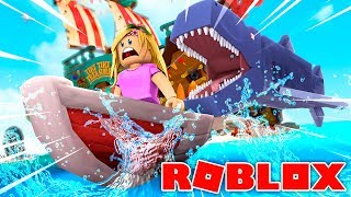LITTLE KELLY ATTACKED BY A SHARK !!! Sharky Gaming | Roblox