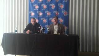 Dave Bialas introduced as the new manager of the Iowa Cubs