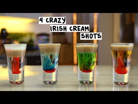 Four Crazy Irish Cream Shots