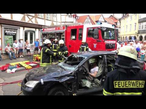 Mobile Welten in Wolfenbüttel - Feuerwehr zeigt ihr Können